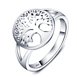 Fashion Plant Tree Shape Party Accessories 925-Sterling-Silver Rings For Women&Lady