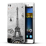 Eiffel Tower 3D Printing Carving Hard Back Case Ultrathin Metal Bumper for Huawei P8 Case