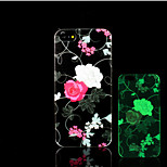 Blumenmuster im Dunkeln leuchten Hartplastikhülle für iPhone 5 für iPhone 5s Fall