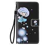 Girl Dandelion Painted PU Phone Case for Huawei P8 Lite/P8