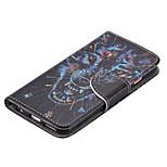 apoyo ranura para tarjetas de dibujo coloreado cubierta del tirón de la moda de la PU de la cáscara del teléfono móvil para el iphone6plus
