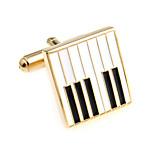Piano keys piano keys French shirt cufflinks cuff nail