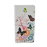 Sulphur butterfly Pattern Flip Leather Case For iPhone 6/6S Cover Bags