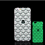 Skull Pattern Glow in the Dark Hard Plastic Back Cover for iPhone 6 for iPhone 6s Case