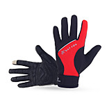 Touch Screen Silicone Gel Anti-slip Outdoors Wearproof Shockproof Full-finger Cycling Bicycle Gloves for Men and Women