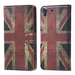 Vintage UK Flag PU Magnetic Leather wallet Flip Stand Case cover for Huawei Honor 4A / Y6