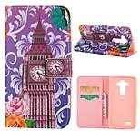 desenho colorido especial ou carteira padrão gráfico casos com casos estande corpo inteiro para LG mini-g3 / g4 lg