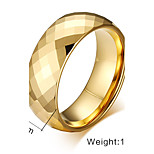 Band Rings Stainless Steel Steel Fashion Screen Color Jewelry Party 1pc