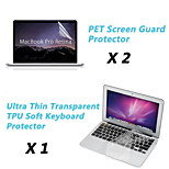 Ultra Thin TPU Soft Keyboard Protector Cover + Protective Clear Screen Guard for 13.3