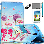 COCO FUN® Dandelion Lover Pattern PU Leather Case Cable Flim Stylus and Stand for Samsung Galaxy S4/S4 MINI/S5/S5 MINI