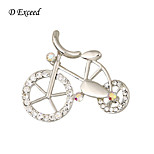 D Exceed Women's Retro Style Bicycle Shape Brooches And Pins Girl's lovely Pin Brooches 2016 New Arrival