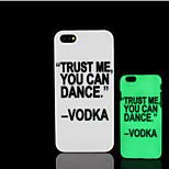 frase lema patrón de brillo en la cubierta trasera de plástico duro oscuro para iphone 5 para el caso del iphone 5s