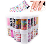 10pcs Spring Star Nail Stickers Section Random Color