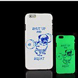 Pug Dog Pattern Glow in the Dark Hard Plastic Back Cover for iPhone 6 for iPhone 6s Case