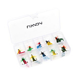 10pcs Fly Fishing Lure Set Artificial Bait with Treble Hooks Carbon Steel Insect Fly Fishing Hooks