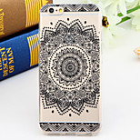 Black and White Style Sunflower 2-Times Printed TPU Soft Back Cover for iPhone 6/6S