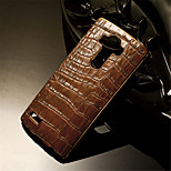 Luxury Retro Crocodile Grain PU Leather+Plating PC Golden Brand Mobile phone Skin Case Cover For LG G3/G4