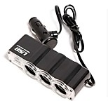 1-to-3 USB Car Cigarette Lighter Power Splitter (DC 12V)