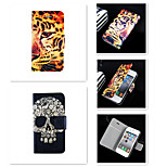 Butch Skeleton Pattern PU Leather Full Body Case for iPhone 5/5S