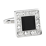 Back to square trapezoid-shaped square cufflinks French shirt cuff nail