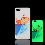Cat Kitty Pattern Glow in the Dark Hard Plastic Back Cover for iPhone 5 for iPhone 5s Case