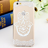 Black and White Style Totem 2-Times Printed TPU Soft Back Cover for iPhone 6/6S