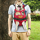 Portable Double-shoulder Pet Travel Carrier Dog Backpack (L) - Fuchsia