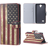 Retro American Flag  Magnetic PU Leather wallet Flip Stand Cover Case For Huawei Ascend Y5/y560