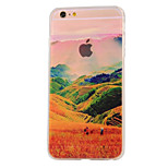 The New Terraces Landscape Pattern Translucent TPU Material Combo Phone Case for iPhone 6/ 6S