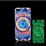 Mandala-Muster im Dunkeln leuchten Hartplastikhülle für iPhone 5 für iPhone 5s Fall