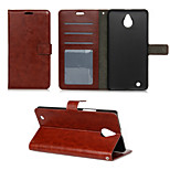 Crazy Horse Grain Window Luxury PU Leather Wallet Case with Stand for Nokia Lumia 850(Assorted Colors)