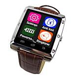 A8-1 se trata de un metal de la correa de cuero caso relojes inteligentes, el apoyo del sistema de manzana androide, bluetooth apoyo 4.0