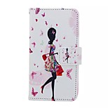 Shopping Girl Painted PU Phone Case for Huawei Honor 7