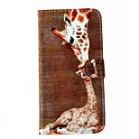 Giraffe Pattern Cell Phone Leather For iPhone 6/6S