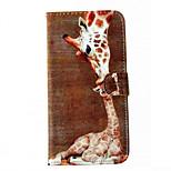giraffa pelle telefono cellulare modello per il iphone 6 / 6s