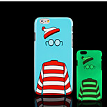 Cartoon Pattern Glow in the Dark Hard Plastic Back Cover for iPhone 6 for iPhone 6s Case