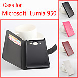 Flip Leather Magnetic Protective Case For Microsoft Lumia 950(Assorted Colors)