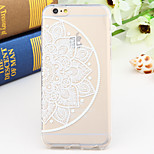 Black and White Style Half-Flower 2-Times Printed TPU Soft Back Cover for iPhone 6/6S