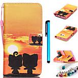farbige Zeichnung oder Muster PU-Leder für Samsung-Galaxie S3 / S3 Mini / S4 / S4 mini / S5 / S5 mini / S6 / S6 Kante / S6 Kante sowie