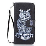 Owl Pattern PU Leather Full Body Case with Stand for iPhone 6S