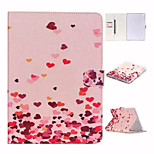 The IN Arrival Love Coloured Drawing Pattern and TPU Textile Cloth Card Slot Stents The Cladding For Apple iPad Mini 4
