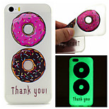 Color Donuts Pattern TPU Luminous Phone Case For iPhone 5/5S