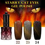 1PCS ANA Starry Cat Eyes Color Gel 12ml 24Colors Long Lasting Nail Polish 22-24