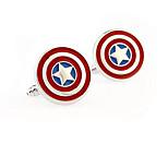 Captain America Stainless Steel Cufflinks Square Vintage Wedding Gift Graving Men's Groom Shirt Deluxe