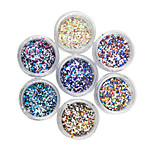 24 Color Hexagon Mixed Sequin Color Nail Art Decorations