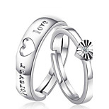 Pure Women's 925 Silver-Plated High Quality Handwork Elegant Ring 2PCS