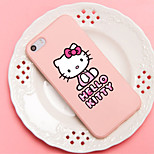 iFashion® Pink Color Little Bowknot Lovely Cat Pattern Silicone Soft Case for iPhone 5/5s