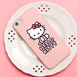 ifashion® roze kleur kleine strik mooie kat patroon zachte siliconen hoesje voor iPhone 5 / 5s
