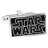 STAR WARS Star Wars Star Wars rectangular black French shirt cufflinks cuff nail