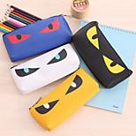 Sharp Eyes Pattern PU Leather Pen Bag(1 PCS Random Pattern)